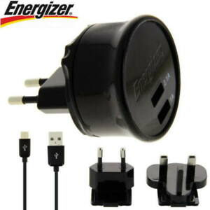 Loader Taking Wall Double USB 3.1Amp Black Energizer - New