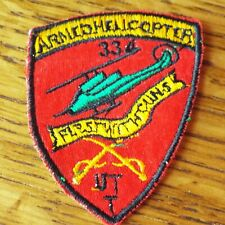 """Vintage US 334th Armed Helicopter Co UTT """"FIRST WITH GUNS"""" Vietnam War Patch"""