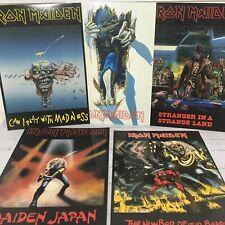 5 Vintage IRON MAIDEN POSTCARDS. 1981-1988