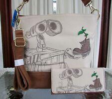 Disney Pixar Loungefly Wall-E Sketch Boot Crossbody Bag Wallet Set NWT
