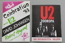 Lot Of 2 U2 Backstage Passes