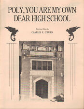 Vintage Polytechnic High School Sheet Music Rare Fort Worth Texas School Song