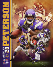 Minnesota Vikings ADRIAN PETERSON Glossy 8x10 Photo Collage Print Poster