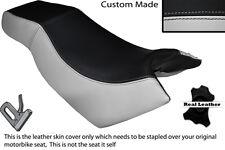 LIGHT GREY & BLACK CUSTOM FITS KYMCO CK PULSAR 125 OLD SHAPE DUAL =SEAT COVER