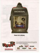 2011 Honda Generators Race Car Magazine Advertisement Ad Page