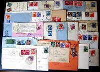 Repubblica -Storia Postale - Democratica - Lotto da 50  buste del settore -