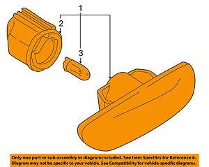 VOLVO OEM 03-07 XC70-Side Marker Light Lamp Left 30722643