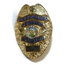 COMPTON CALIFORNIA Police Officer Vintage Police Badge Lapel Hat Pin