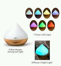 Anjou Essential Oil Aroma Diffuser Lg 300ml H2O Auto Shut off Soft 7 Color LED .