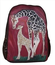 Giraffe Backpack, Book bag - From My Painting, Full Circle
