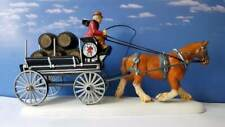 DEPT 56 Dickens Village RED LION PUB BEER WAGON!  New  Ale