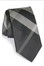 $190 BURBERRY LONDON Manston Check Silk Tie