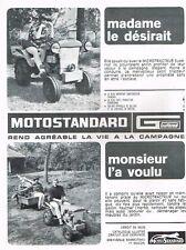 C- Publicité Advertising 1966 Le Tracteur Motostandard