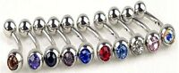 Piercing ARCADE ou NOMBRIL acier chirurgical cristal, bijoux fantaisie Neuf
