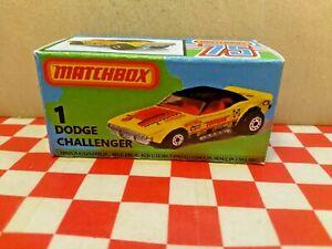 Matchbox Superfast No1 Dodge Challenger Custom EMPTY Repro Box NO CAR
