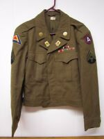 WWII 346th Engineer Regiment Ike Jacket / Bullion ~ Theater Made Insignia!!!