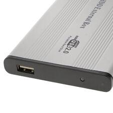 "2.5 ""IDE-USB2.0-Festplatte HDD SSD Gehäuse externes Plattengehäuse Grau"