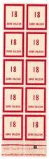 Timbre fictif N° 98 en fragment de feuille de 10 timbres Neuf **