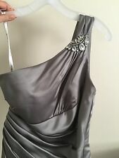 bridemaid dress size 8-10, silver, floor length