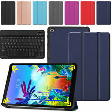 Leather Stand Cover Case With Keyboard For LG G Pad 5 10.1 FHD 4G 2019 Tablet US