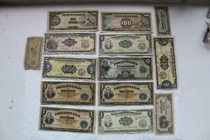 Philippines Banknotes, 1 Peso, 2 Pesos, 5 Pesos, 10 Pesos, 1949, 5C/20C/50C, 10P