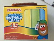 Washable Sidewalk Chalk - 15 Piece Non-Toxic Chalk Sticks