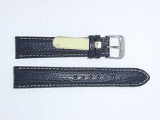Di-Modell Genuine Shark Leather 18 mm BLACK Waterproof Watch Band SHARKSKIN