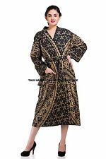 Indian Ombre Mandala Cotton Night Gown Women Bath Robe Kimono Sleepwear Handmade