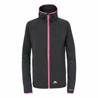 Trespass Finchie Womens Active Running Black Jacket Workout Sports Sweatshirt