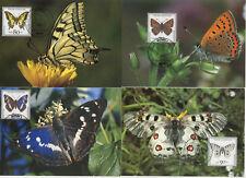 Bund Schmetterlinge auf 8 Maxikarten  ESST