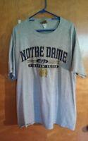 Vintage Notre Dame Football Starter Jacket L & T-shirt XL Dames Schedule Irish