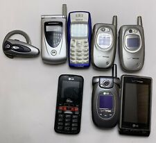 New ListingLot Of 8 Vtg Untested Cell Phones Bluetooth Ear Various Models As-Is Parts Scrap