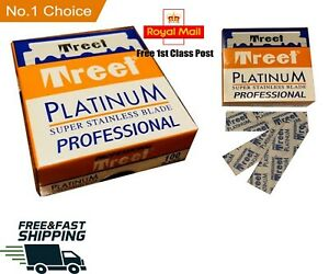 TREET PROFESSIONAL PREMIUM SINGLE EDGE RAZOR BLADES BARBER STRAIGHT THROAT CUT U