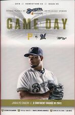 JHOULYS CHACIN ON COVER MILWAUKEE BREWERS 2018 OFFICIAL GAMEDAY PROGRAM ISSUE #5
