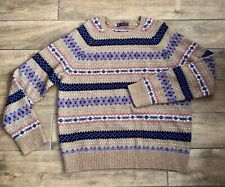 DSquared2 Brown Wool Striped Pullover Sweater Men's Large TT