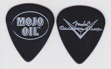 2001 FENDER 'MOJO OIL' LOGO CUSTOM SHOP BLACK CELLULOID GUITAR PICK