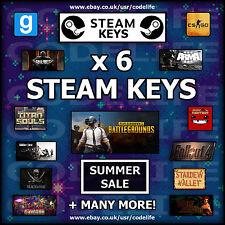 6 x Random Steam CD Keys - SUMMER SALE - Games up to £49.99!!!
