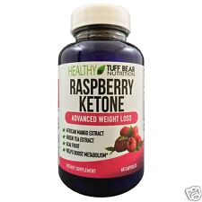 Raspberry Ketone Supplements for Weight Loss By Tuff Bear 60 Capsules