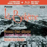 LA BOHEME - PAVAROTTI/FRENI/KARAJAN/BP/+  2 CD+BLU-RAY NEW PUCCINI,GIACOMO