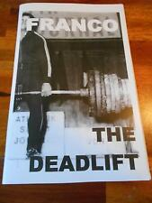 FRANCO COLUMBU bodybuilding muscle workout THE DEADLIFT booklet 2016