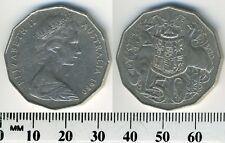 Australia 1980 - 50 Cents Copper-Nickel Coin - Elizabeth II - kangaroo & emu