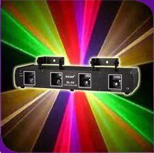 SHINP 4 Lens 4Color RGYP DJ Laser Light DMX 7CH Disco Stage Party Lighting Show