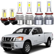 6Pcs LED Headlight Kit Bulb 6500K High Power Fog Lamp For Nissan Titan 2016-2018