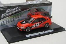 Mitsubishi Lancer Evo IX ( Fast and Furious ) Sean / orange / Greenlight 1:43