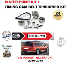 FOR VW PASSAT ALLTRACK 2.0 TDi 4Motion 2010-2014 TIMING BELT KIT and WATER PUMP