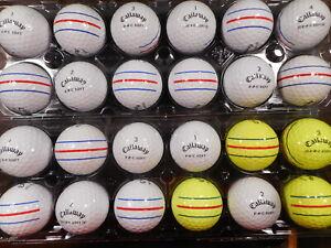 24 Callaway 2019/20/21 E.R.C Triple Track Mint AAAAA No Logos Used Golf Balls