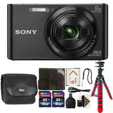 Sony DSC-W830 20.1MP Point and Shoot Digital Camera (Black) + 32GB Accessory Kit