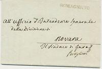 ITALIEN ROMAGNANO extrem selt L1 (Königreich Piemont-Sardinien) Altbrief 1825