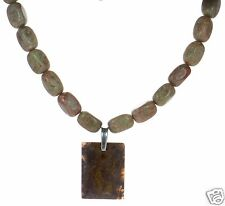 Tocara Solid Solid 925 Sterling Silver Chunky Jasper Necklace '