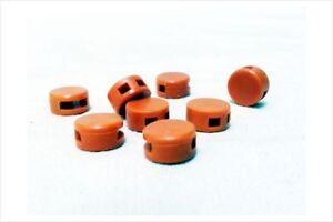 1000 Stk. Kunststoffplomben 8 mm orange - Plastikplomben